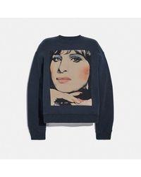 COACH - : Sweat-shirt X Richard Bernstein avec Barbra Streisand - Lyst