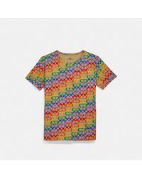 COACH Rainbow Signature T-shirt - Multicolour