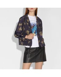 COACH - Forest Floral Print Zip Hoodie - Lyst