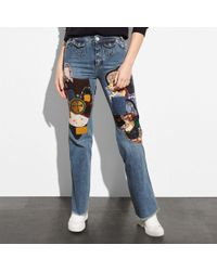 COACH - Patched Jeans - Lyst