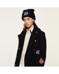 COACH - Chunky Embellished Patch Beanie - Lyst