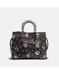COACH Rogue With Snakeskin Tea Rose - Black