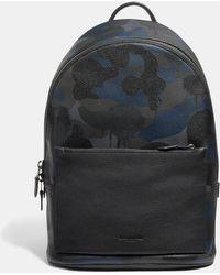 COACH Metropolitan Soft Backpack With Wild Beast Print - Blue