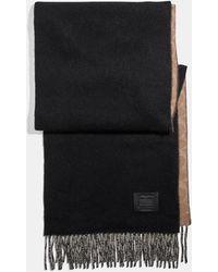 COACH Signature Solid Cashmere Muffler - Black