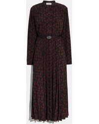 COACH - Horse And Carriage Print Dress With Belt - Lyst