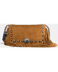 COACH - Dinky In Cervo Suede With Fringe - Lyst