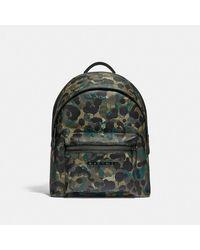 COACH Charter Rucksack mit Camouflage-Print - Grün