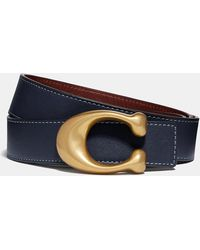 COACH - Sculpted Signature Reversible Belt - Lyst