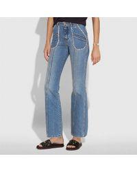 COACH Patchwork Denim Pants - Blue