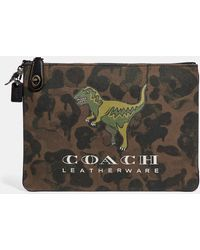 b352735aef Lyst - COACH Turnlock Pouch With Rexy in Black for Men