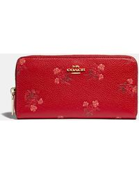COACH - Lunar New Year Accordion Zip Wallet With Floral Bow Print - Lyst