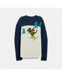 COACH Rexy Intarsia Sweater - Blue