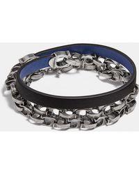 COACH - Signature Wrap Bracelet - Lyst