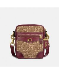 COACH - Max Crossbody 18 In Signature Jacquard With Pyramid Rivets - Lyst