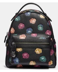 COACH - Campus Backpack 23 With Rainbow Rose Print - Lyst