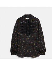 COACH - Wildflower Print Military Shirt - Lyst