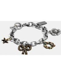 c85c7fbb11ae0 COACH Mini Charm Mix Bracelet in Metallic - Lyst