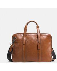 COACH Metropolitan Soft Brief In Sport Calf Leather - Multicolor