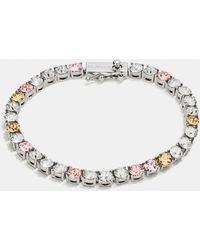 COACH - Crystal Tennis Bracelet - Lyst