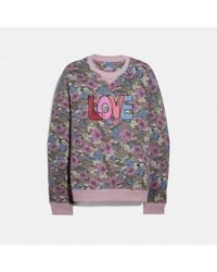 COACH Love Sweatshirt - Purple