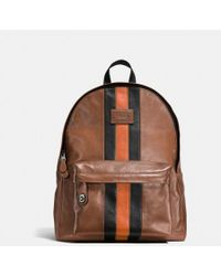 COACH - Modern Varsity Campus Backpack In Sport Calf Leather - Lyst