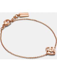 COACH - Mini Demi-fine Padlock Heart Bracelet - Lyst