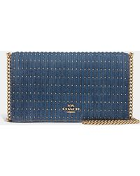 a012a1aea2af COACH - Callie Foldover Chain Clutch With Quilting And Rivets - Lyst