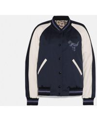 COACH Rexy By Zhu Jingyi Reversible Varsity Jacket - Blue