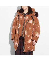 COACH - Oversized Eiderdown Printed Puffer Jacket - Lyst
