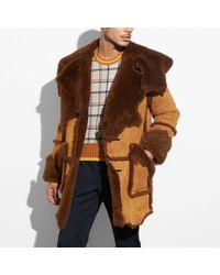 COACH Shearling Coat - Brown