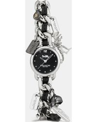 COACH - Delancey Stainless Steel Charm Bracelet Watch - Lyst