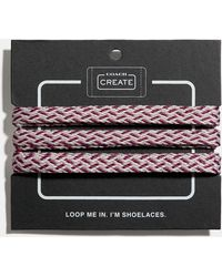 COACH Multi Woven Shoe Laces - Multicolor