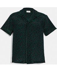 COACH Printed Pajama Shirt - Green
