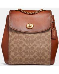 COACH - Parker Monogrammed Backpack - Lyst 1a7daa3805dd8