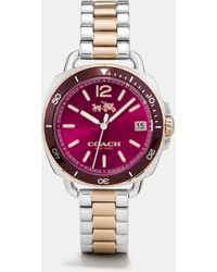 COACH - Tatum Two Tone Sunray Dial Bracelet Watch - Lyst