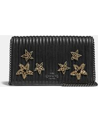 a9060ccf54 COACH - Callie Foldover Chain Clutch With Quilting And Crystal  Embellishment - Lyst