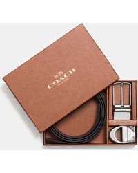 ab9982e945 COACH Sculpted C Cut-to-size Reversible Textured Leather Belt in ...