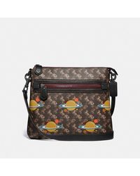 COACH - Olive Crossbody With Horse And Carriage Print And Planets - Lyst