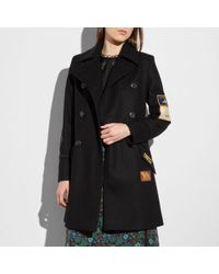 COACH - Military Patch Naval Coat - Lyst