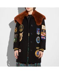COACH Military Patch Worker Jacket - Black