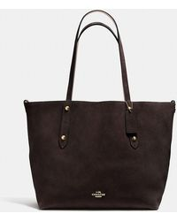 COACH   Reversible Large Market Tote In Suede And Crossgrain Leather   Lyst