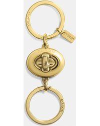 COACH - Mini Turnlock Valet Key Ring - Lyst