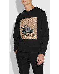 COACH Signature Skull Sweatshirt - Black