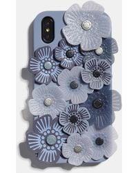 COACH - Iphone Xr Case With Tea Rose Applique - Lyst