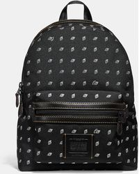 COACH - Academy Backpack With Dot Diamond Print - Lyst