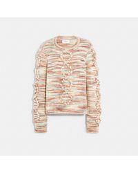 COACH Space Dye Bobble Sweater - Multicolour