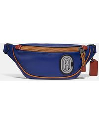 COACH Rivington Belt Bag 7 With Reflective Patch - Blue