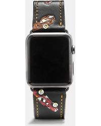 COACH - Apple Watch® Printed Leather Strap - Lyst