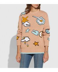 COACH - Outerspace Intarsia Sweater - Lyst