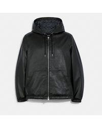 COACH Leather Sneaker - Black